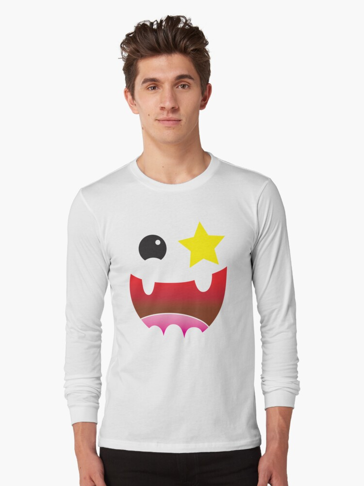 Crazy happy maniac face with stars and teeth  by jazzydevil