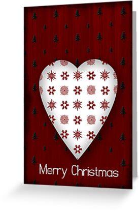 Christmas Heart - CARD by Sybille Sterk