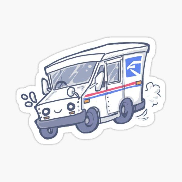 Mail Truck Sticker