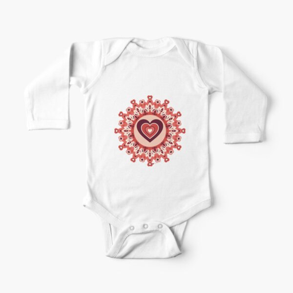 Heartbeat Long Sleeve Baby One-Piece