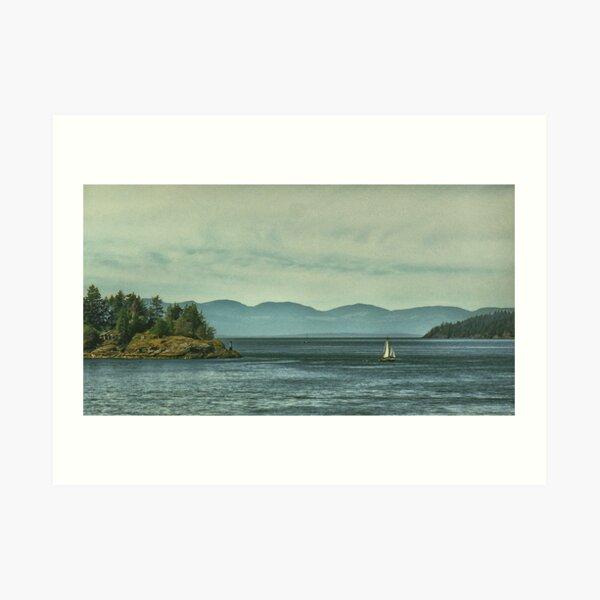 Sailing On Howe Sound Art Print