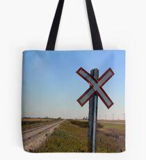 Railway Crossing Tote Bag