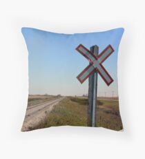 Railway Crossing Throw Pillow