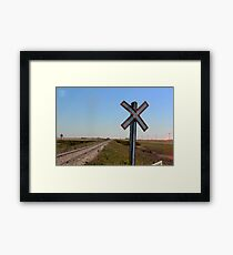 Railway Crossing Framed Print