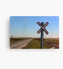 Railway Crossing Canvas Print