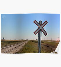 Railway Crossing Poster