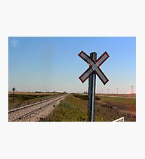 Railway Crossing Photographic Print