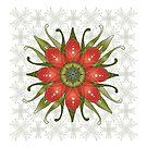 Christmas Flower by catherine barnhoorn