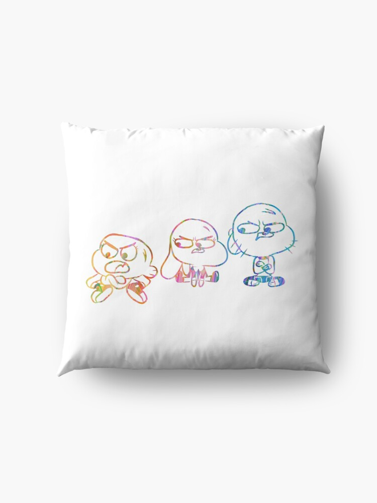 Alternate view of Mad Darwin, Anais, and Gumball - The Amazing World of Gumball Floor Pillow