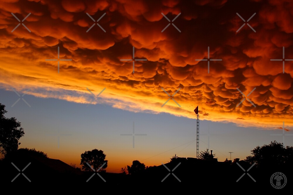 Orange Mammatus Clouds by madeinsask