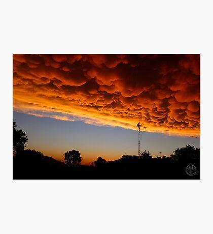 Orange Mammatus Clouds Photographic Print