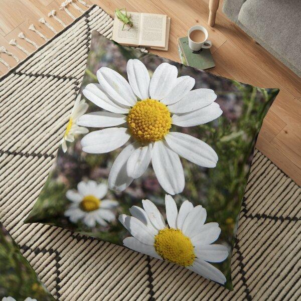 Mayweed wildflower Floor Pillow
