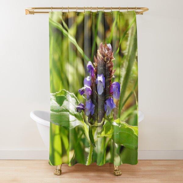 Self Heal Wildflower Shower Curtain