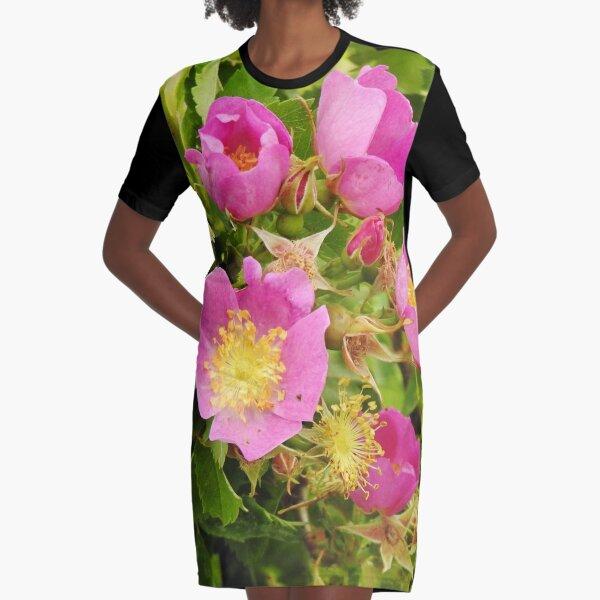 Wild Roses Graphic T-Shirt Dress