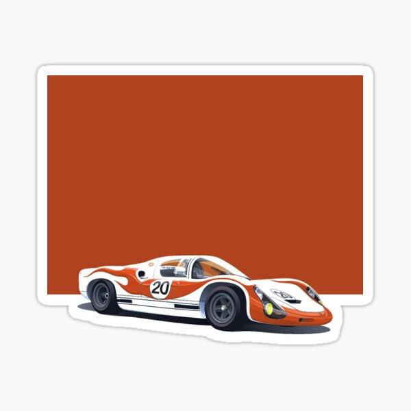 Porsche 910 Le Mans Race Car Glossy Sticker