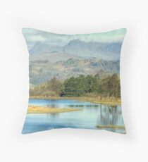 The Langdale Pikes from Wise Een Tarn Throw Pillow