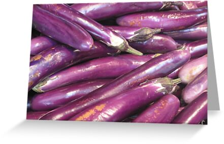 Purple at the market by Anthony Goldman