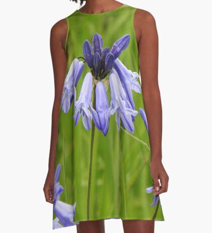 Wild Hyacinth Wildflower A-Line Dress