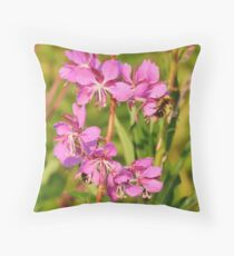 Fireweed Wildflower Throw Pillow