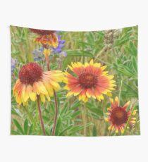Blanket Flower Wildflowers Wall Tapestry