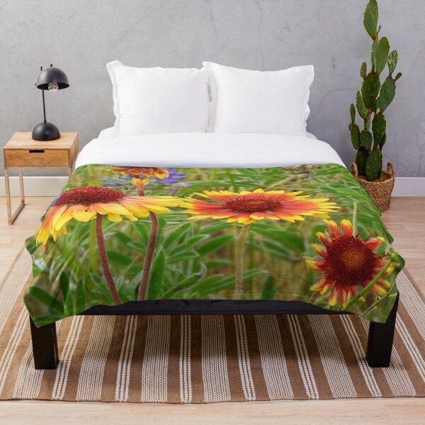 Blanket Flower Wildflowers Throw Blanket