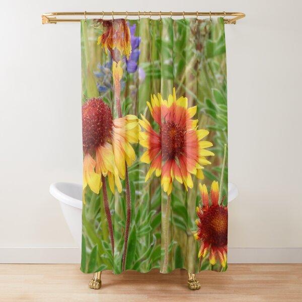 Blanket Flower Wildflowers Shower Curtain