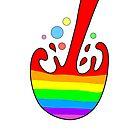 Rainbow splash by Melanie Jeyakkumar