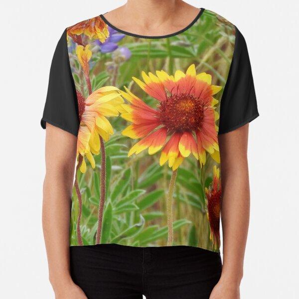 Blanket Flower Wildflowers Chiffon Top