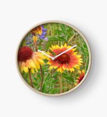 Blanket Flower Wildflowers Clock