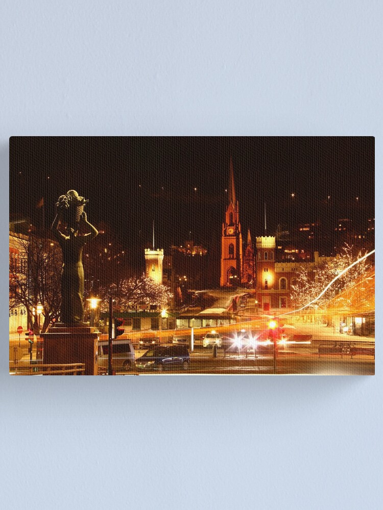 Alternate view of Drammen, Norway at Night Canvas Print