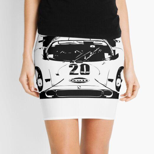 Porsche 917 Gulf - Le Mans Race Car Mini Skirt