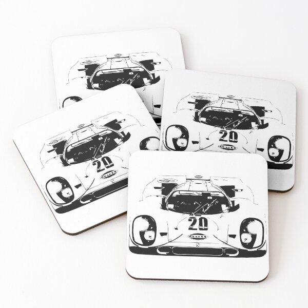 Porsche 917 Gulf - Le Mans Race Car Coasters (Set of 4)