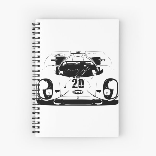 Porsche 917 Gulf - Le Mans Race Car Spiral Notebook