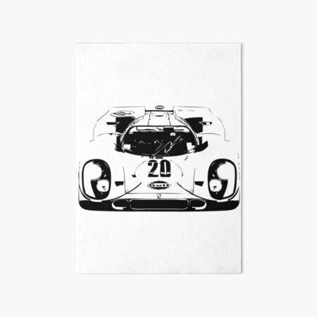 Porsche 917 Gulf - Le Mans Race Car Art Board Print