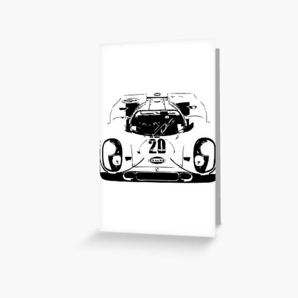 Porsche 917 Gulf - Le Mans Race Car Greeting Card