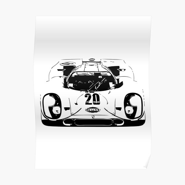Porsche 917 Gulf - Le Mans Race Car Poster