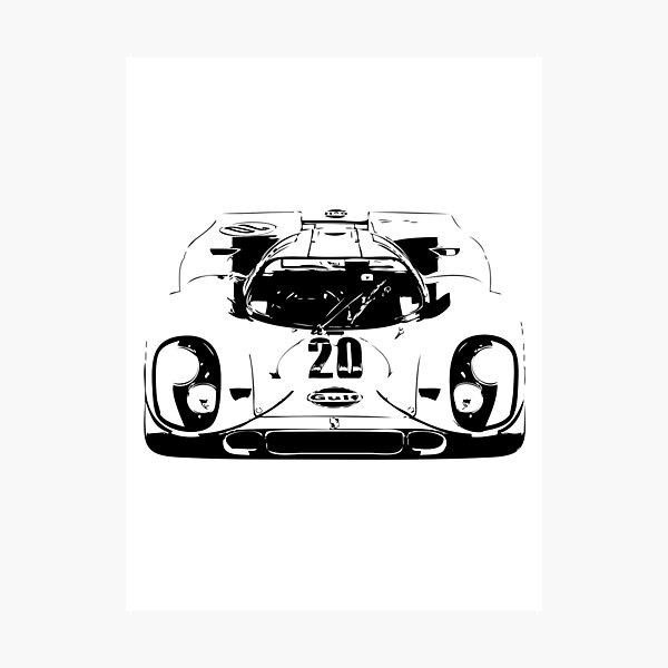 Porsche 917 Gulf - Le Mans Race Car Photographic Print