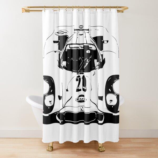 Porsche 917 Gulf - Le Mans Race Car Shower Curtain