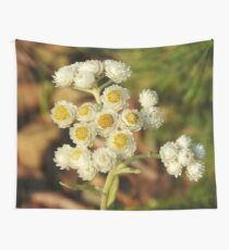 Pearly Everlasting Wildflowers Wall Tapestry