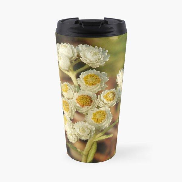 Pearly Everlasting Wildflowers Travel Mug