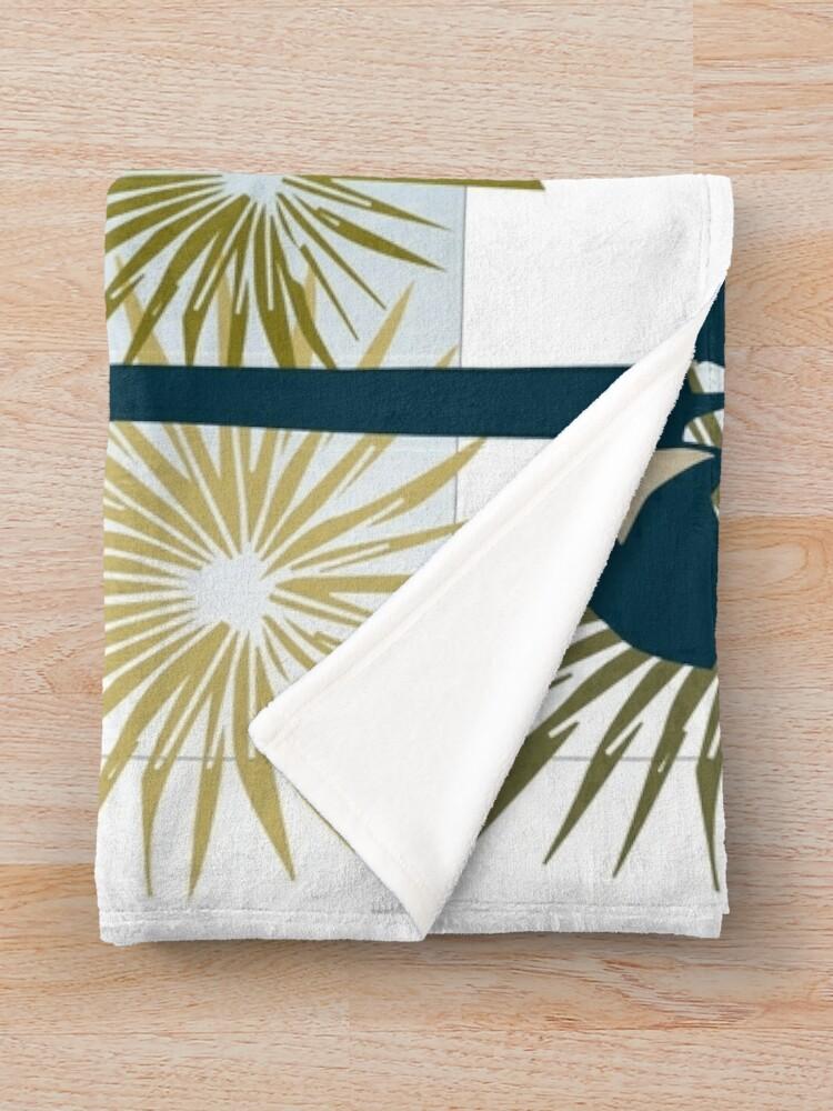 Alternate view of Three Mod Palms Throw Blanket