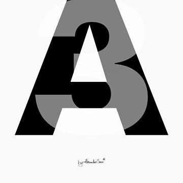 Letter A3 by alexandersuen