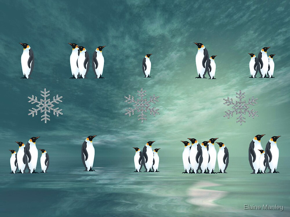 Penquins by Elaine Manley