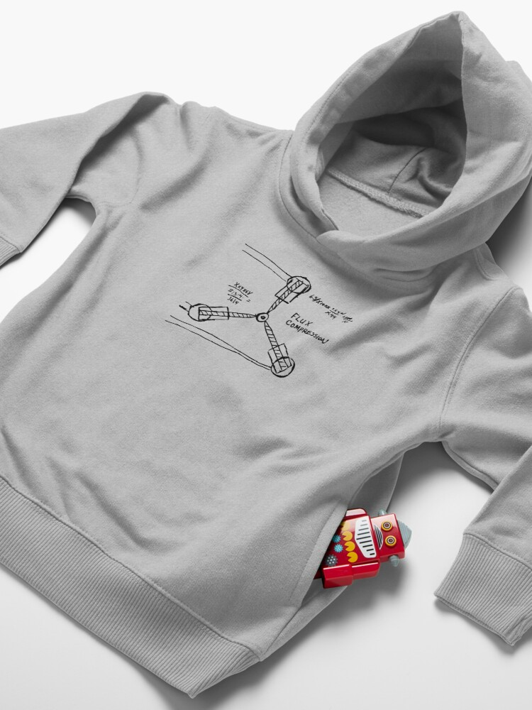 Alternate view of Flux Capacitor Compression Hand-made Sketch Design From Doc Himself! Toddler Pullover Hoodie