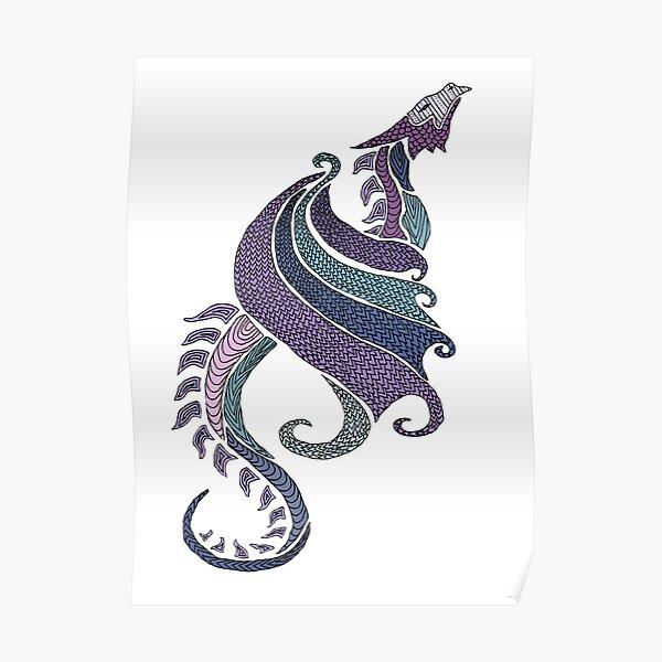 Amethyst Dragon Poster