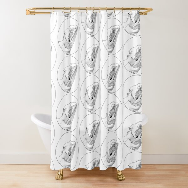 Carl the Dragon Shower Curtain