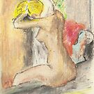 Postcards from Europe - a study of Degas 'after the bath' by Gary Shaw