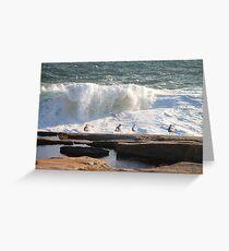 'Da Boyz Watchin' Da Waves' Greeting Card