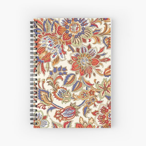 Middle Eastern Floral Pattern Spiral Notebook