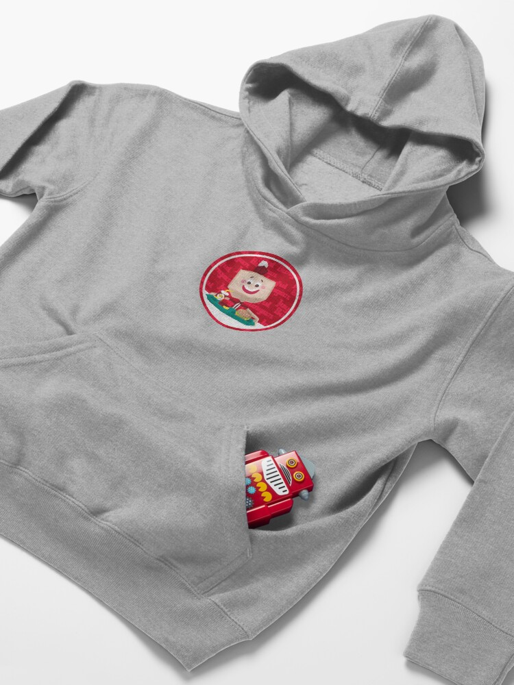 Alternate view of Larry the Joyful Burger Worker - The Amazing World of Gumball Kids Pullover Hoodie